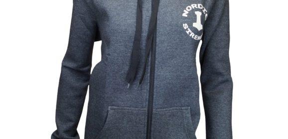 Nordic Strength Zipper Dame Hoodie i mørkegrå